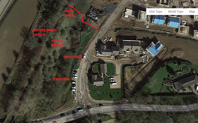 map of potsford dam new path